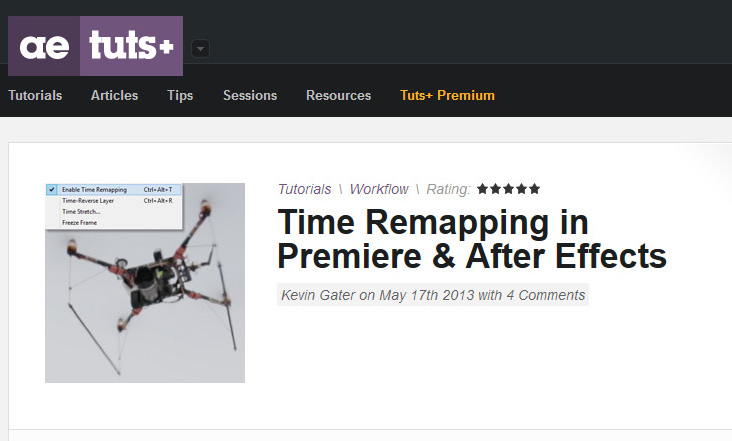 AEtuts Time Remapping Tutorial